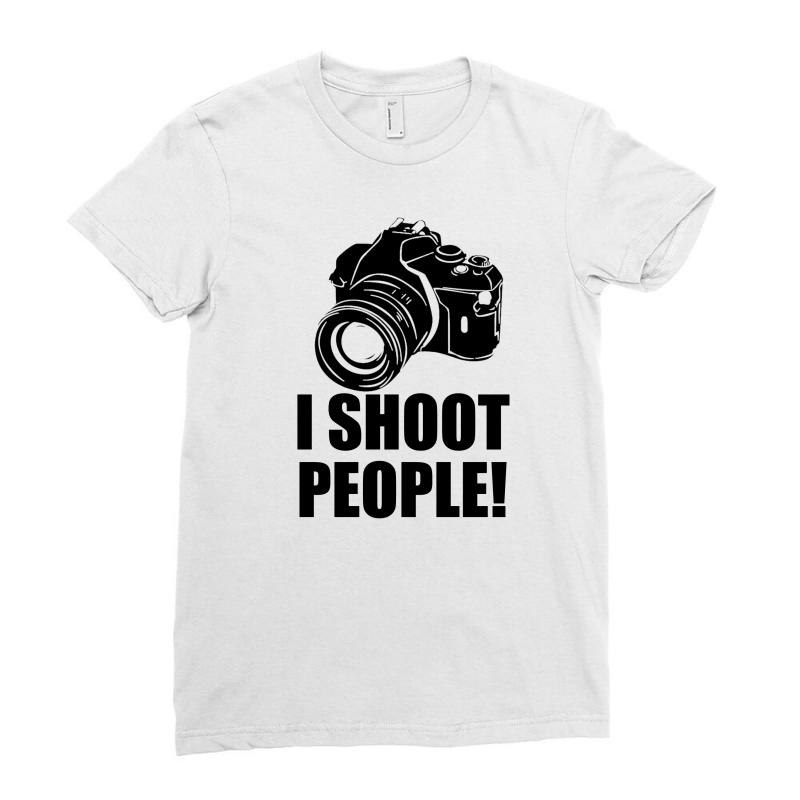 94e57ba7 i shoot people t shirt funny photographer tee camera photography digit  Ladies Fitted T-Shirt