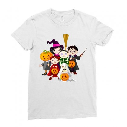Halloween Ladies Fitted T-shirt Designed By Putri