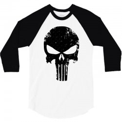 e440bd0206d2 Custom The Punisher Skull Black T-shirt By Constan002 - Artistshot