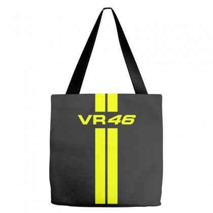 Valentino Rossi Stripes Tote Bags Designed By Vr46