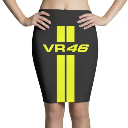 Valentino Rossi Stripes Pencil Skirts Designed By Vr46