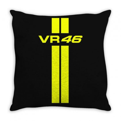 Valentino Rossi Stripes Throw Pillow Designed By Vr46
