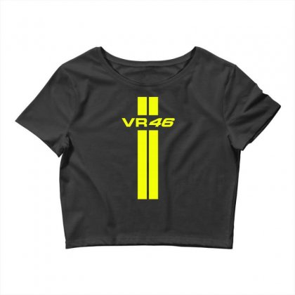 Valentino Rossi Stripes Crop Top Designed By Vr46