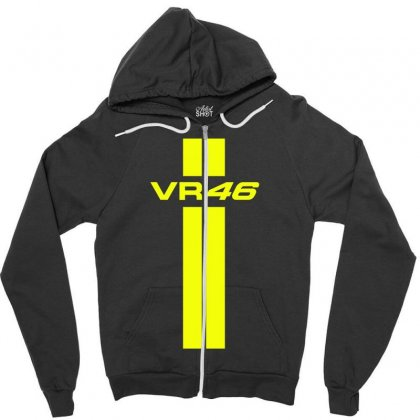Valentino Rossi Stripes Zipper Hoodie Designed By Vr46