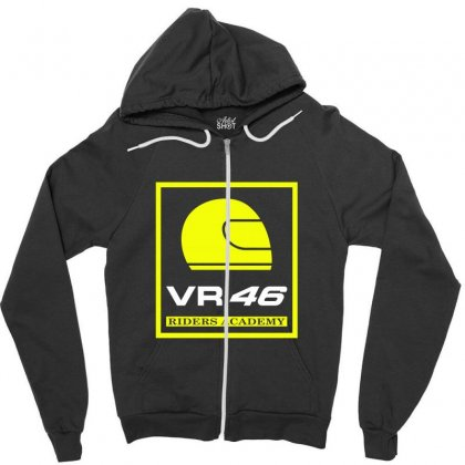 Vr46 Riders Academy Zipper Hoodie Designed By Vr46