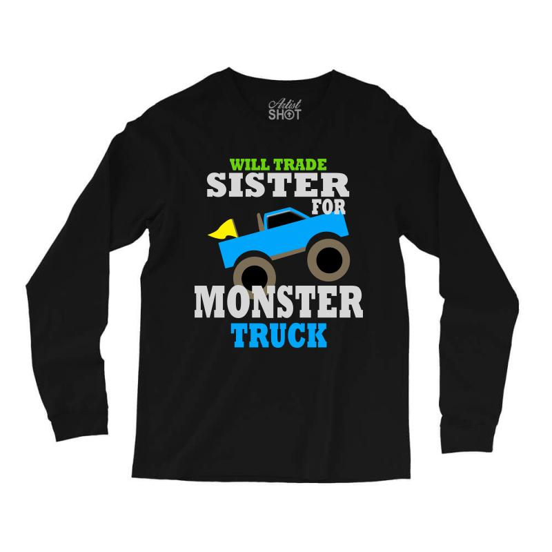 2880ff5f Custom Monster Truck Shirt For Boys Toddlers Long Sleeve Shirts By ...