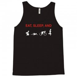 eat, sleep & train triathlon sports, gym, athletic Tank Top | Artistshot