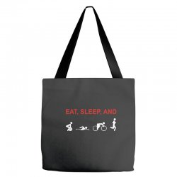 eat, sleep & train triathlon sports, gym, athletic Tote Bags | Artistshot