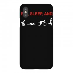 eat, sleep & train triathlon sports, gym, athletic iPhoneX Case | Artistshot