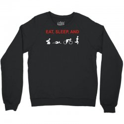 eat, sleep & train triathlon sports, gym, athletic Crewneck Sweatshirt | Artistshot