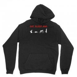 eat, sleep & train triathlon sports, gym, athletic Unisex Hoodie | Artistshot