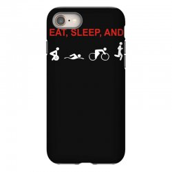 eat, sleep & train triathlon sports, gym, athletic iPhone 8 Case | Artistshot