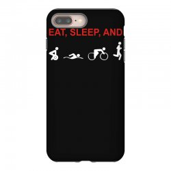 eat, sleep & train triathlon sports, gym, athletic iPhone 8 Plus Case | Artistshot
