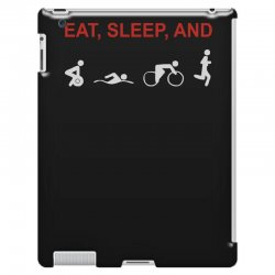 eat, sleep & train triathlon sports, gym, athletic iPad 3 and 4 Case | Artistshot