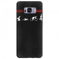 eat, sleep & train triathlon sports, gym, athletic Samsung Galaxy S8 Plus Case | Artistshot