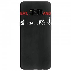 eat, sleep & train triathlon sports, gym, athletic Samsung Galaxy S8 Case | Artistshot