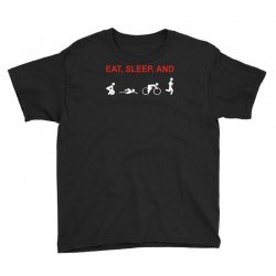 eat, sleep & train triathlon sports, gym, athletic Youth Tee | Artistshot
