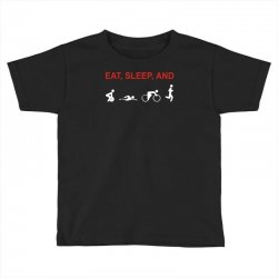 eat, sleep & train triathlon sports, gym, athletic Toddler T-shirt | Artistshot