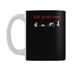 eat, sleep & train triathlon sports, gym, athletic Mug | Artistshot