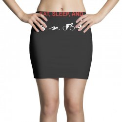 eat, sleep & train triathlon sports, gym, athletic Mini Skirts | Artistshot