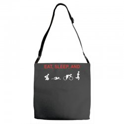 eat, sleep & train triathlon sports, gym, athletic Adjustable Strap Totes | Artistshot