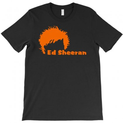 Ed Sheeran Silhoette Music Ginger Icon Singer T-shirt Designed By Henz Art