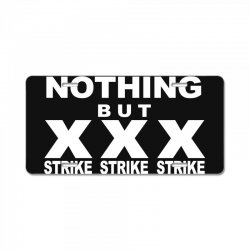 nothing but strikes bowling tee pba sports cool License Plate | Artistshot