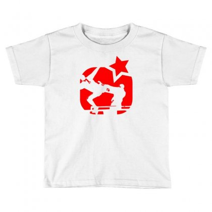Eric Cantona, Kungfu, Manu Toddler T-shirt Designed By Henz Art