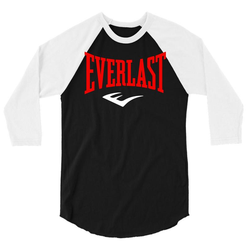 sale retailer promo codes top-rated professional Everlast Boxing Logo 3/4 Sleeve Shirt. By Artistshot