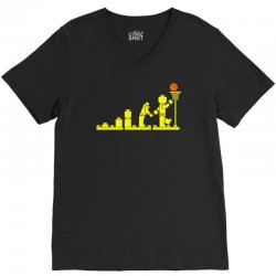 evolution lego basketball sports funny V-Neck Tee | Artistshot