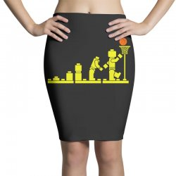 evolution lego basketball sports funny Pencil Skirts | Artistshot