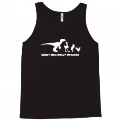 evolution sucks funny darwin theory retro dinosaur birds comic Tank Top | Artistshot