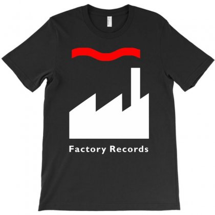 Factory Records   Retro Record Label   Mens Music T-shirt Designed By Henz Art