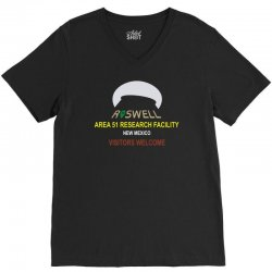 funny alien conspiracy theory roswell area 51 V-Neck Tee | Artistshot