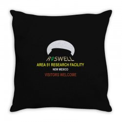 funny alien conspiracy theory roswell area 51 Throw Pillow | Artistshot