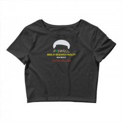 funny alien conspiracy theory roswell area 51 Crop Top | Artistshot