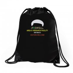 funny alien conspiracy theory roswell area 51 Drawstring Bags | Artistshot
