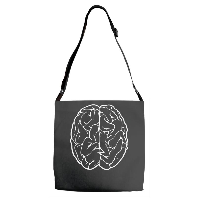 Funny Male Brain Ideal Birthday Gift Or Present Adjustable Strap Totes