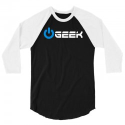 geek' (power on button) 3/4 Sleeve Shirt | Artistshot