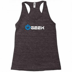 geek' (power on button) Racerback Tank | Artistshot