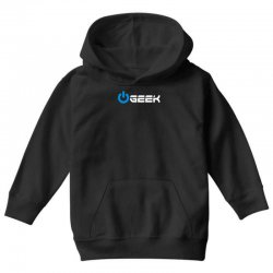 geek' (power on button) Youth Hoodie | Artistshot