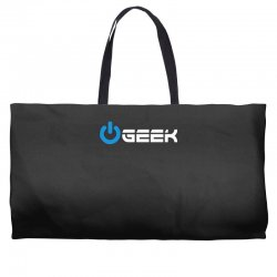 geek' (power on button) Weekender Totes | Artistshot