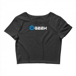 geek' (power on button) Crop Top | Artistshot
