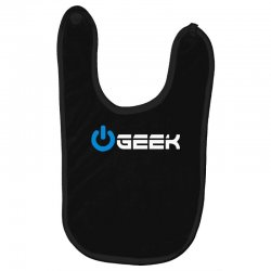 geek' (power on button) Baby Bibs | Artistshot