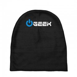 geek' (power on button) Baby Beanies | Artistshot
