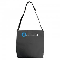 geek' (power on button) Adjustable Strap Totes | Artistshot