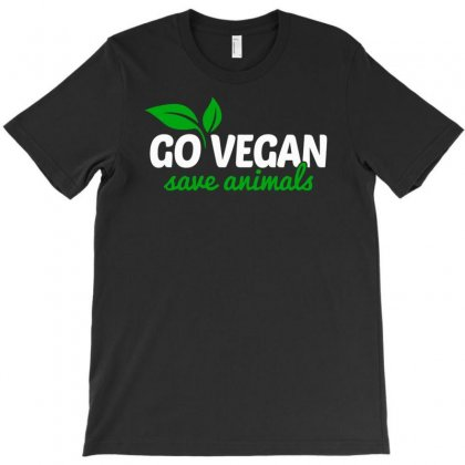 Go Vegan Save Animals T-shirt Designed By Henz Art