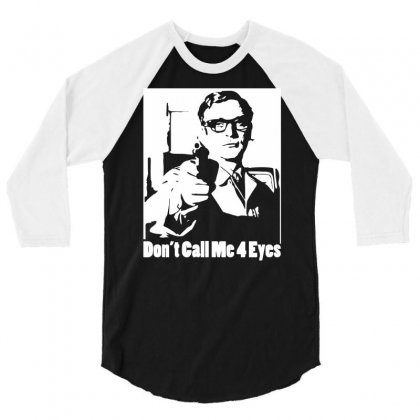Harry Palmer Don't Call Me Four Eyes 3/4 Sleeve Shirt Designed By Henz Art