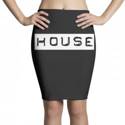 house club,dance,music,vinyl,rave,dj,cool,funny Pencil Skirts | Artistshot