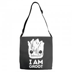 i am groot Adjustable Strap Totes | Artistshot